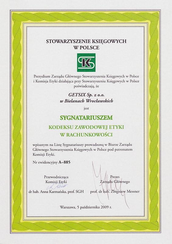 Zertifikat für Buchhaltervereinigung