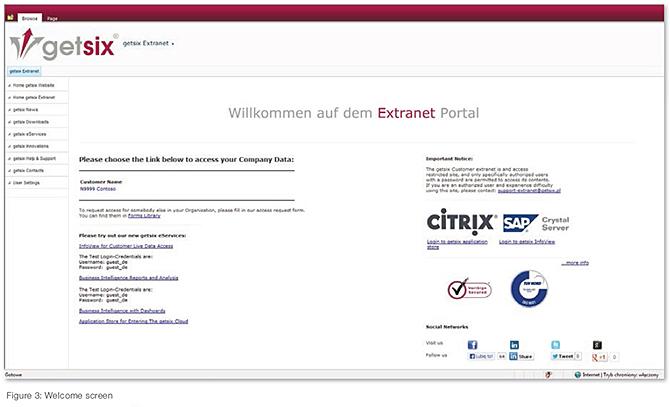 getsix Customer Extranet 3
