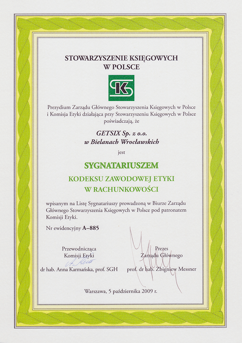 Our Certifications - getsix®