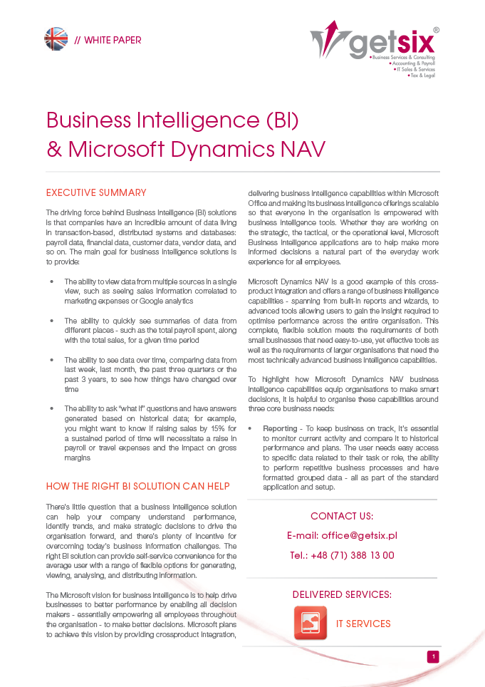 Business Intelligence Essays (Examples)