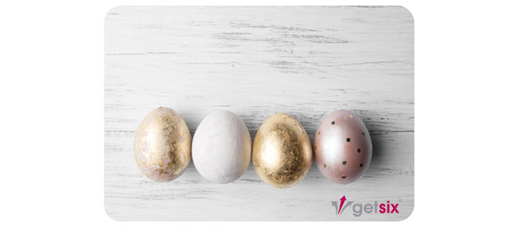 getsix® easter card with wishes