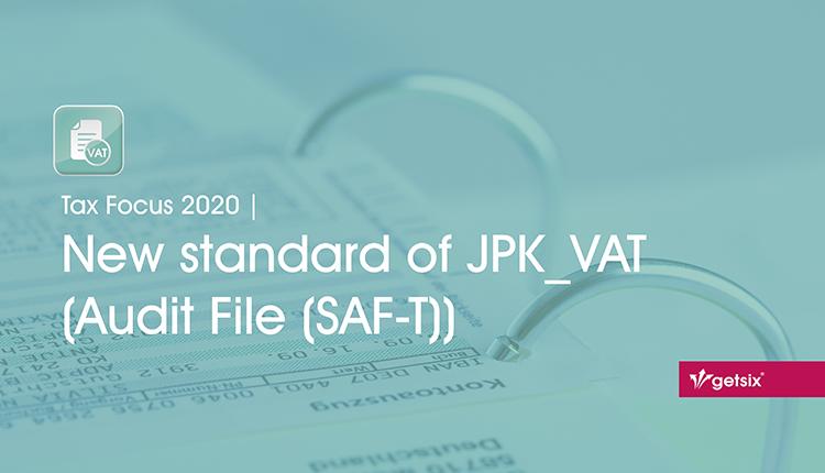 New standard of JPK_VAT