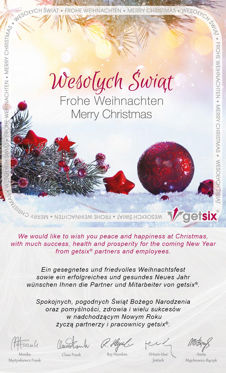 getsix Christmas Card 2020