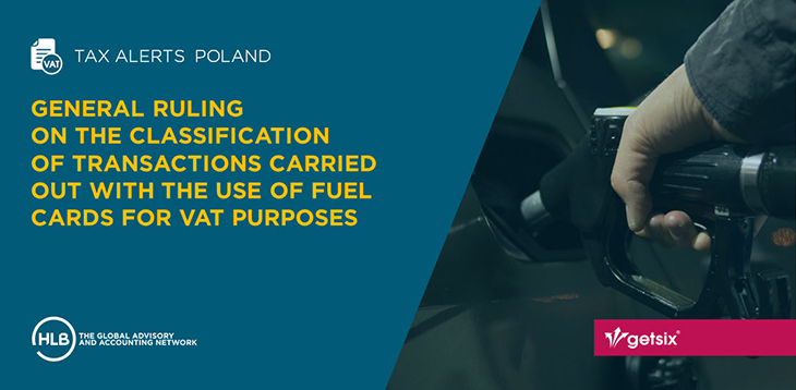 General ruling regarding classification of transactions carried out with the use of fuel cards for VAT purposes