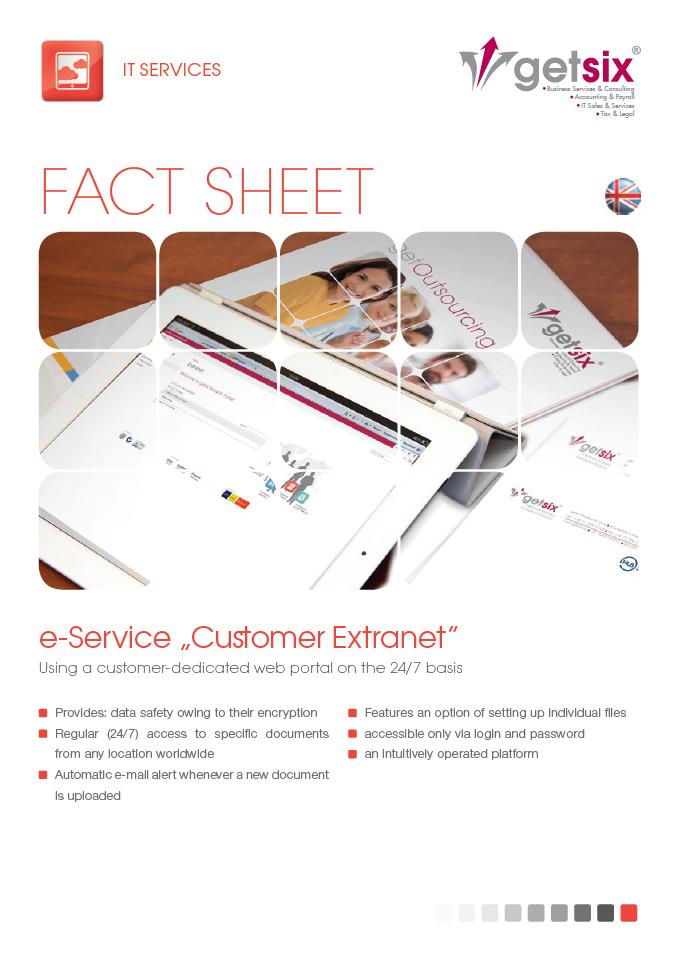 e-Service 'Customer Extranet'