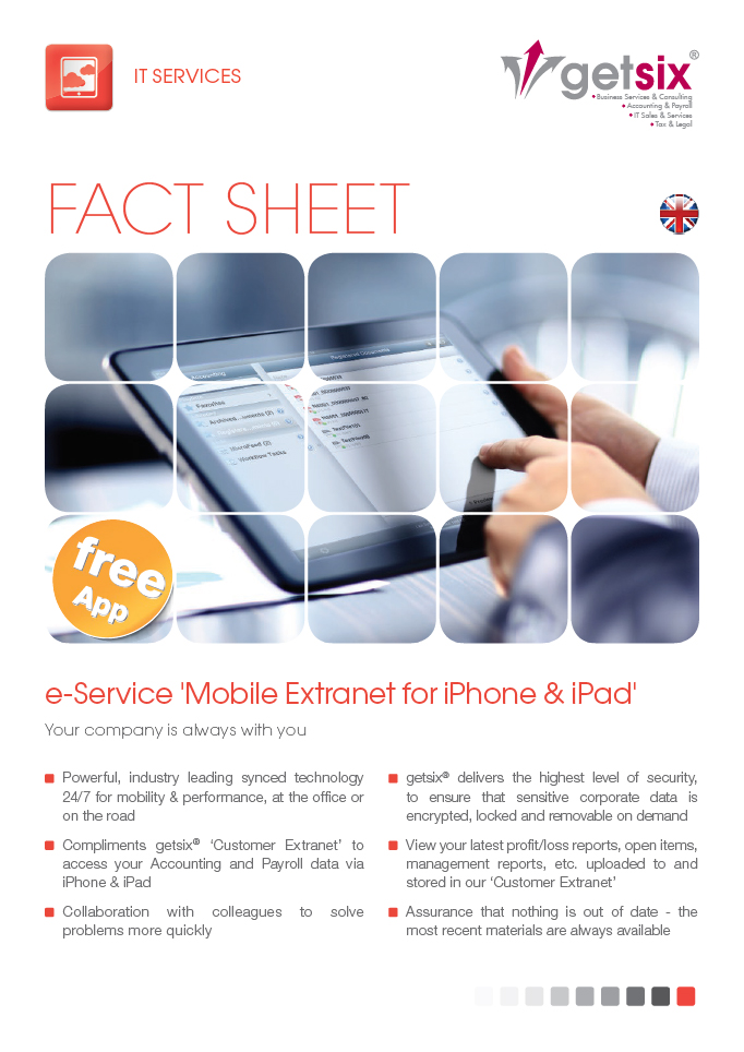 e-Service 'Mobile Extranet for iPhone & iPad'