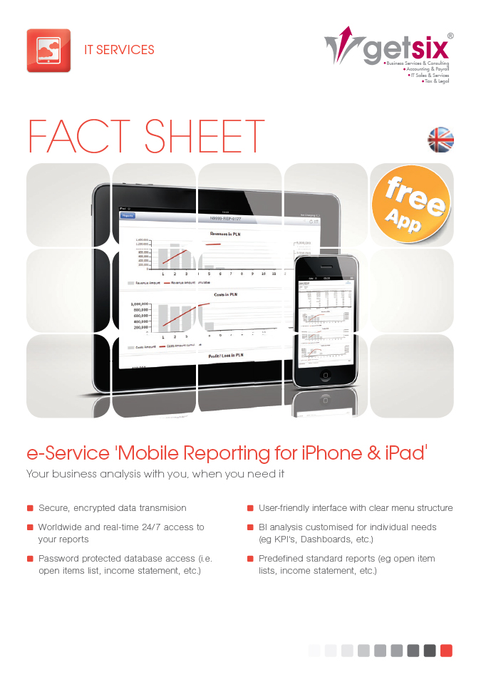 e-Service 'Mobile Reporting for iPhone & iPad'