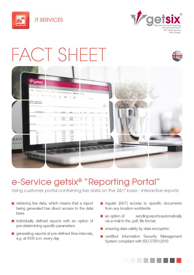 e-Service 'getsix® Reporting Portal'