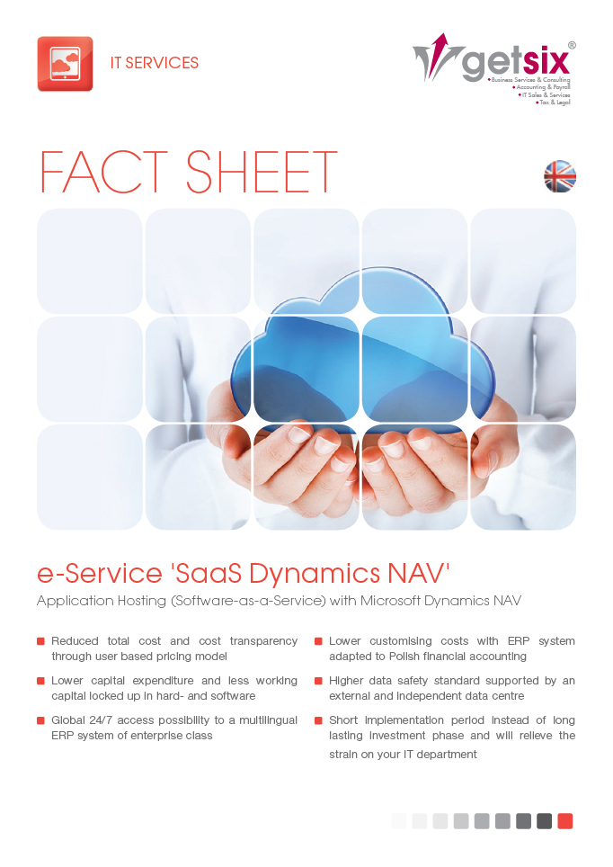 e-Service 'SaaS Dynamics NAV'