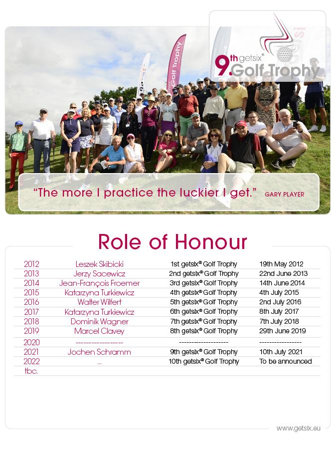 table of honour 9 getsix golf trophy