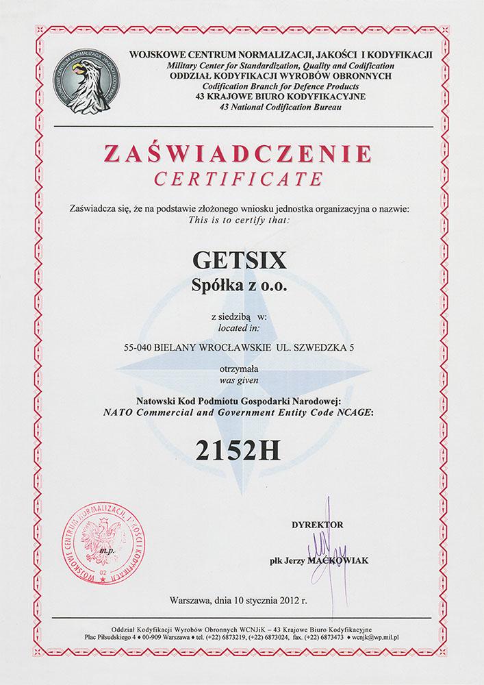 NATO certificate