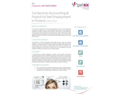 Full Service Accounting & Payroll for Self Employment in Poland