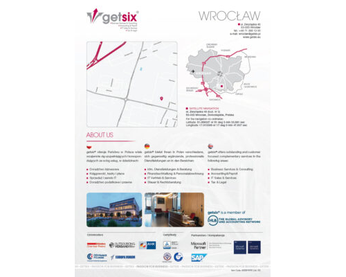 Map of Accounting Office Wrocław